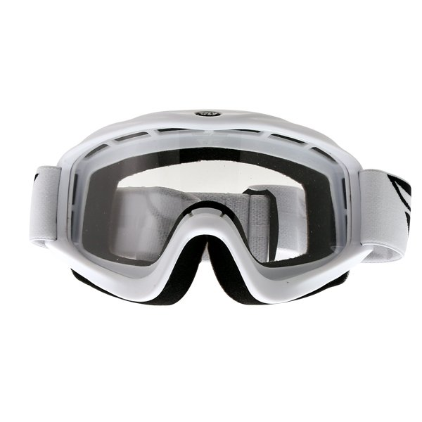Fly Racing Focus White Goggles Front