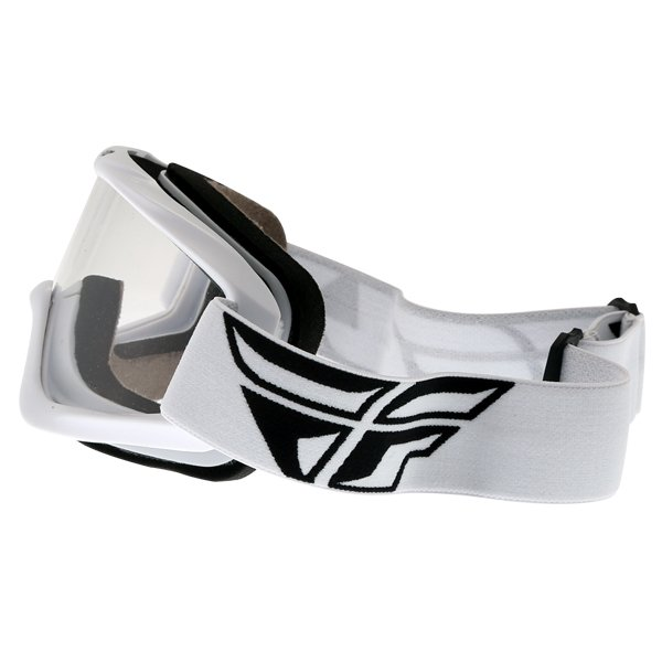 Fly Racing Focus White Goggles Left Side