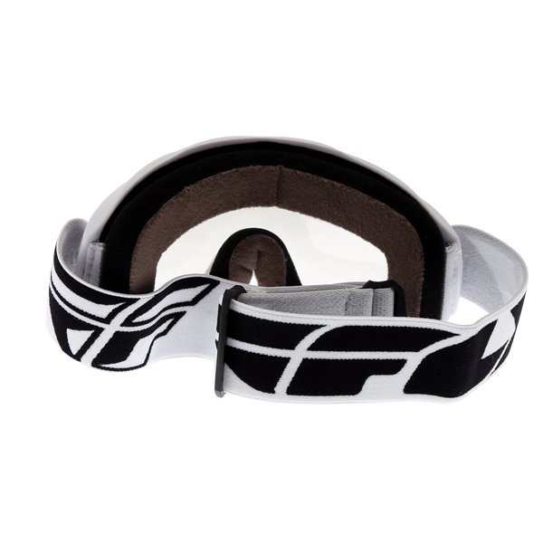 Fly Racing Focus White Goggles Back