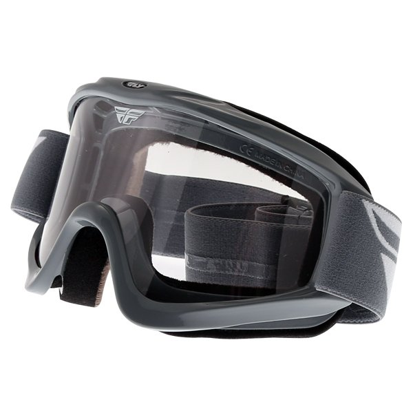 Fly Racing Focus Grey Goggles Front Left