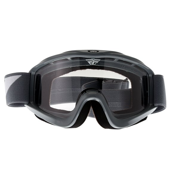 Fly Racing Focus Grey Goggles Front