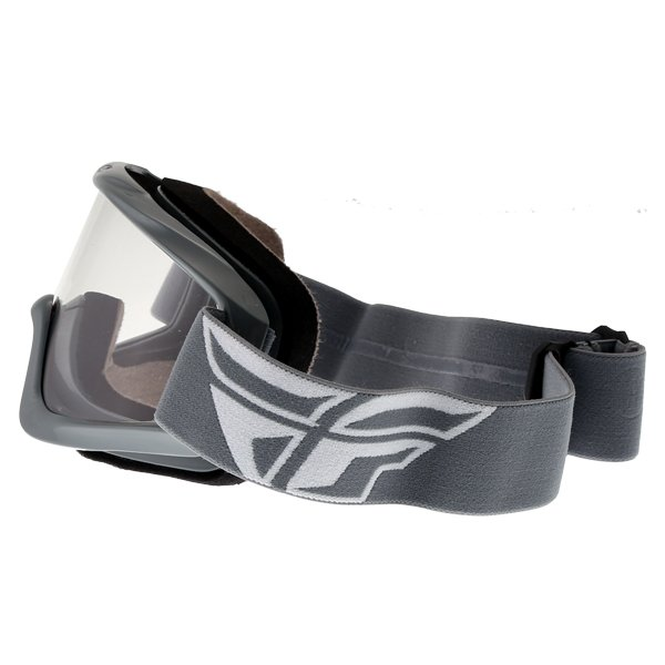 Fly Racing Focus Grey Goggles Left Side