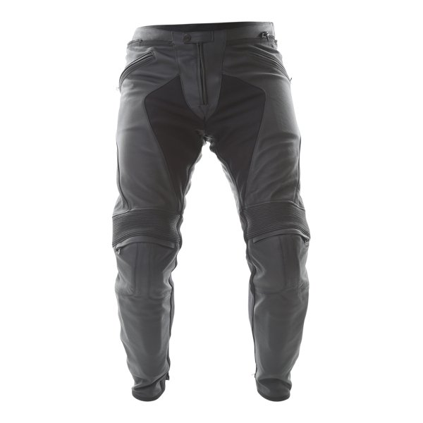 Dainese Pony C2 Black Leather Motorcycle Pants Front