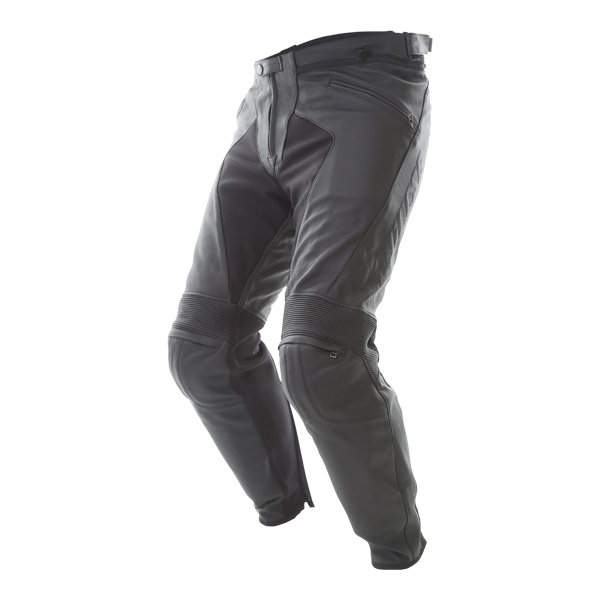 Dainese Pony C2 Black Leather Motorcycle Pants Riding crouch