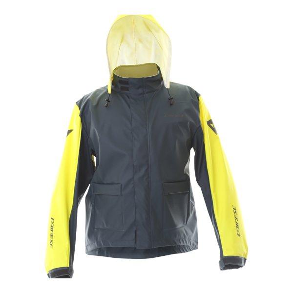 Dainese Storm Antrax Fluo Yellow Waterproof Over Jacket Front