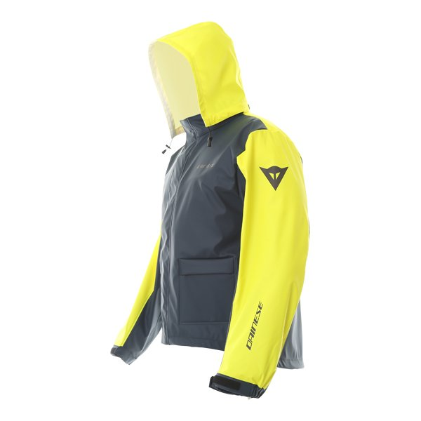 Dainese Storm Antrax Fluo Yellow Waterproof Over Jacket Side