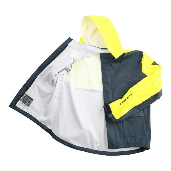 Dainese Storm Antrax Fluo Yellow Waterproof Over Jacket Inside