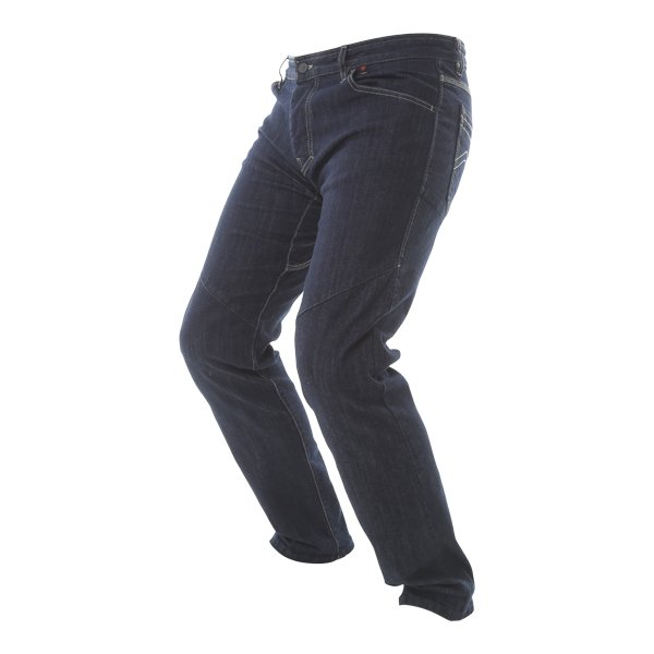Dainese Tivoli Mens Dark Blue Denim Motorcycle Jeans Riding crouch