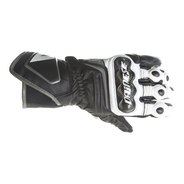Dainese Carbon D1 Long Black White Anthracite Motorcycle Gloves Back