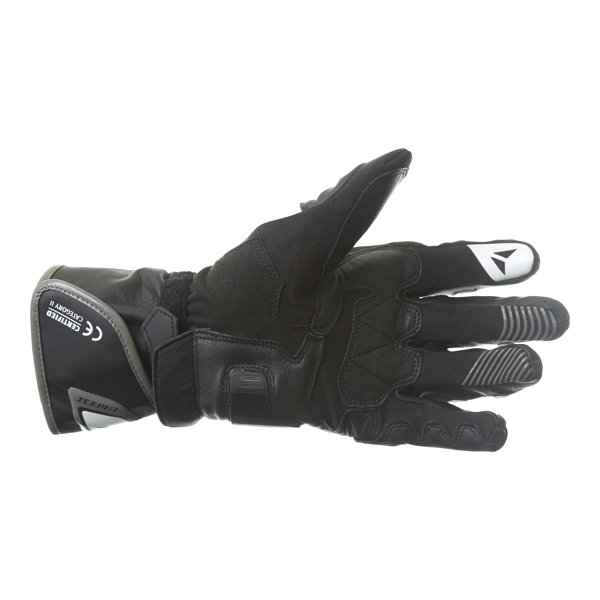 Dainese Carbon D1 Long Black White Anthracite Motorcycle Gloves Palm
