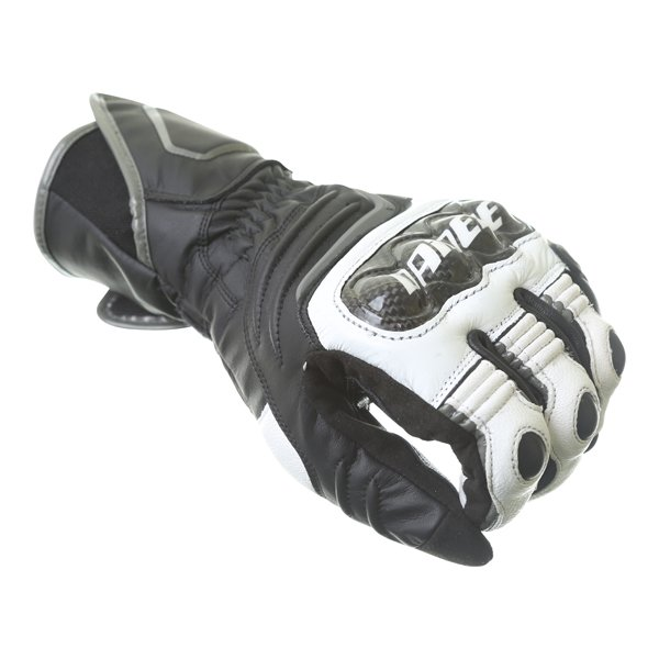Dainese Carbon D1 Long Black White Anthracite Motorcycle Gloves Knuckle