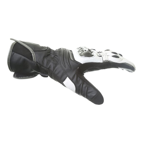 Dainese Carbon D1 Long Black White Anthracite Motorcycle Gloves Thumb side
