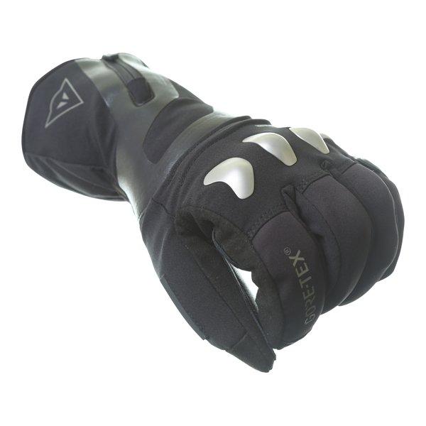Dainese X-Travel GoreTex Black Waterproof Motorcycle Gloves Knuckle