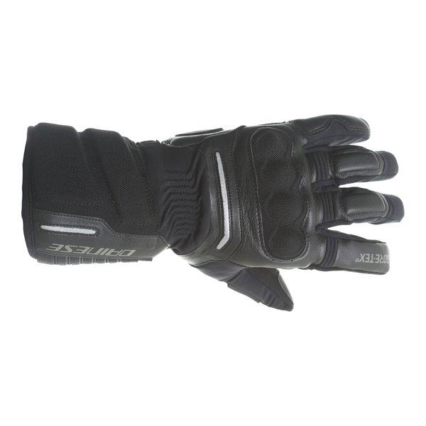 Dainese Solarys Long GoreTex Black Waterproof Motorcycle Gloves Back
