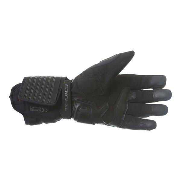 Dainese Solarys Long GoreTex Black Waterproof Motorcycle Gloves Palm
