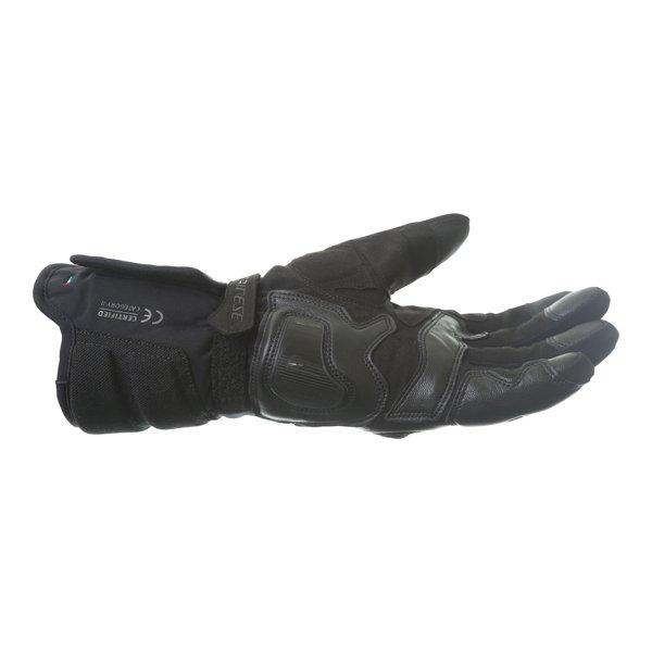 Dainese Solarys Long GoreTex Black Waterproof Motorcycle Gloves Little finger side