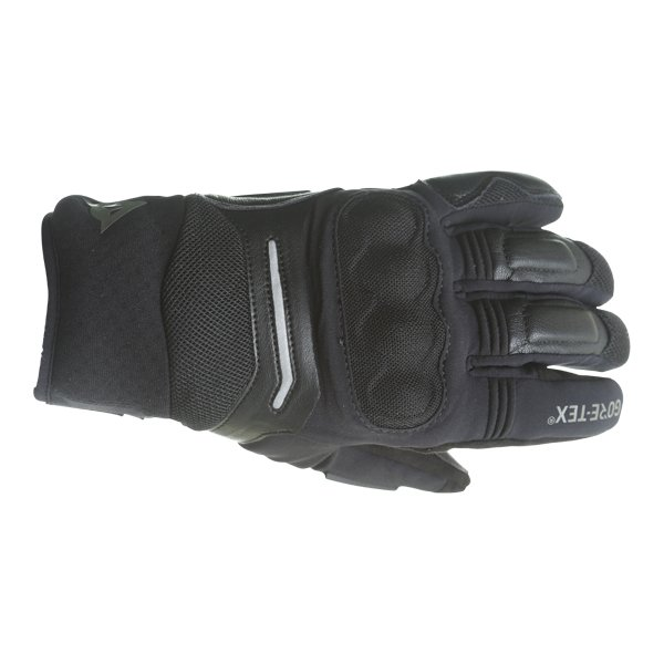 Dainese Solarys Short GoreTex Black Waterproof Motorcycle Gloves Back