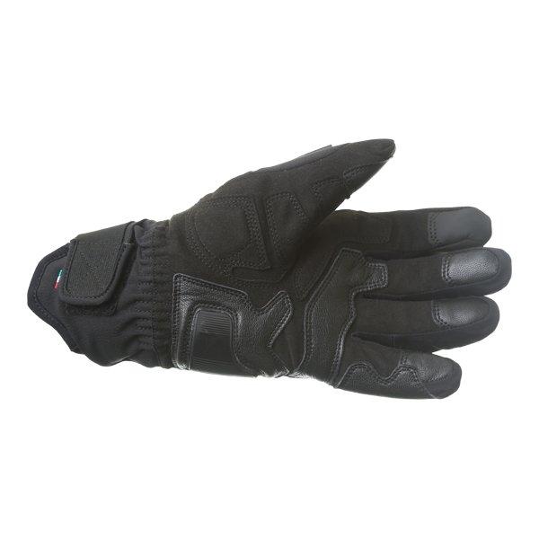 Dainese Solarys Short GoreTex Black Waterproof Motorcycle Gloves Palm