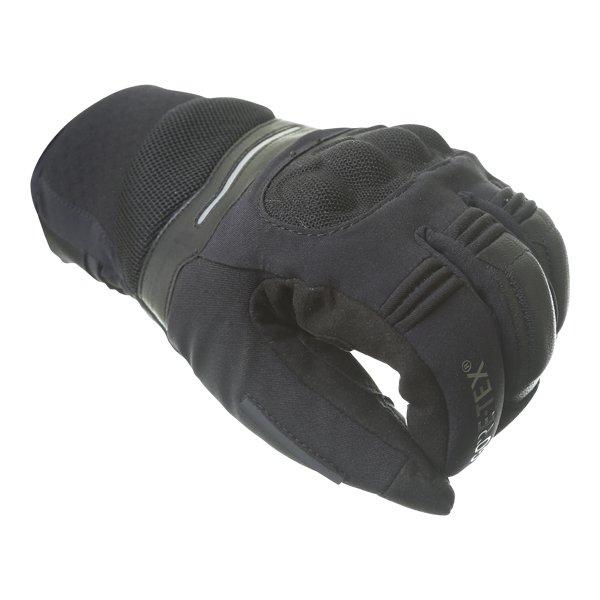 Dainese Solarys Short GoreTex Black Waterproof Motorcycle Gloves Knuckle
