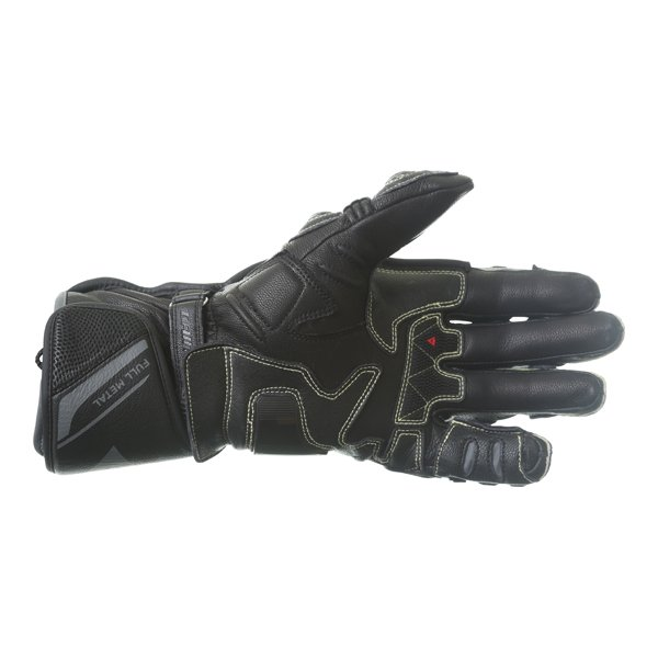 Dainese Full Metal 6 Black Motorcycle Gloves Palm