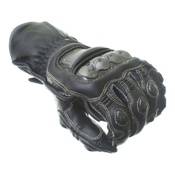 Dainese Full Metal 6 Black Motorcycle Gloves Knuckle
