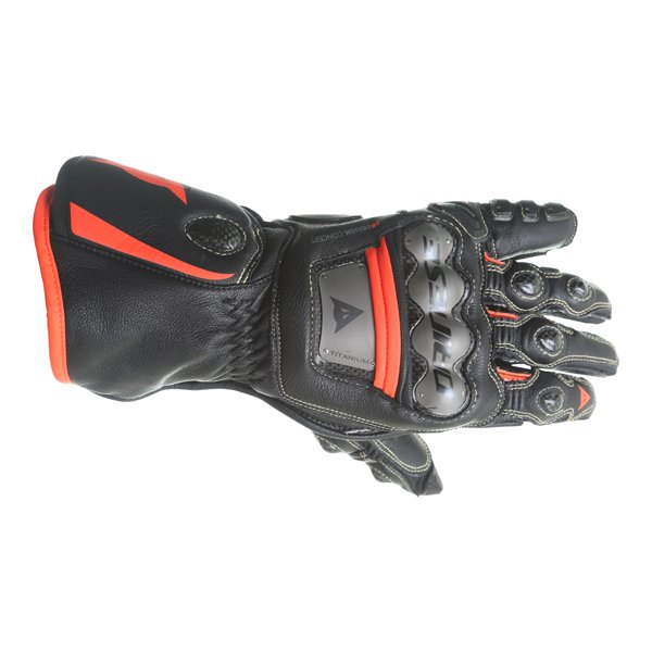 Dainese Full Metal 6 Black Fluo Red Motorcycle Gloves Back
