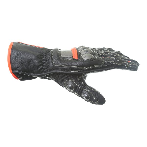 Dainese Full Metal 6 Black Fluo Red Motorcycle Gloves Thumb side