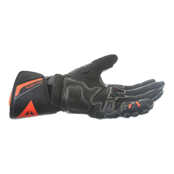 Dainese Full Metal 6 Black Fluo Red Motorcycle Gloves Little finger side