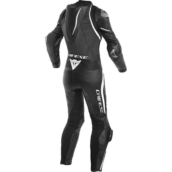 Dainese Laguna Seca 4 Lady Womens Black White Leather Motorcycle 1-Piece Suit Rear
