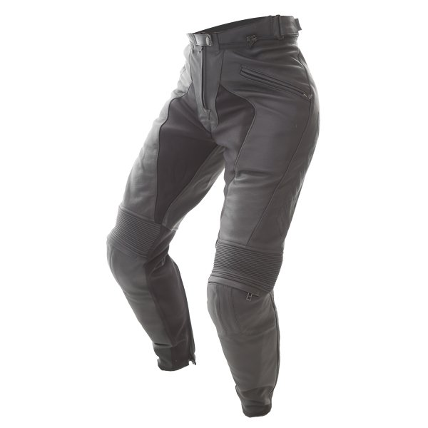 Dainese Pony C2 Ladies Black Leather Motorcycle Pants Riding crouch