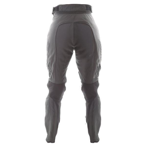 Dainese Pony C2 Ladies Black Leather Motorcycle Pants Rear