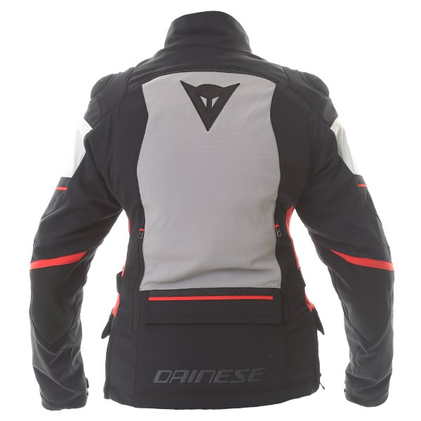 Dainese Carve Master 2 Ladies Black Grey Frost Red Goretex Waterproof Textile Motorcycle Jacket Back