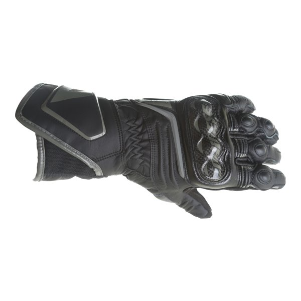 Dainese Carbon D1 Ladies Black Motorcycle Gloves Back