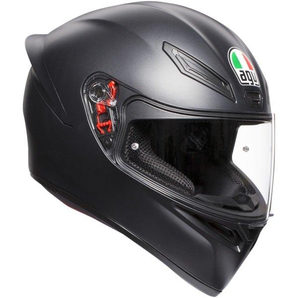 AGV K1 Matt Black Full Face Motorcycle Helmet Front Right