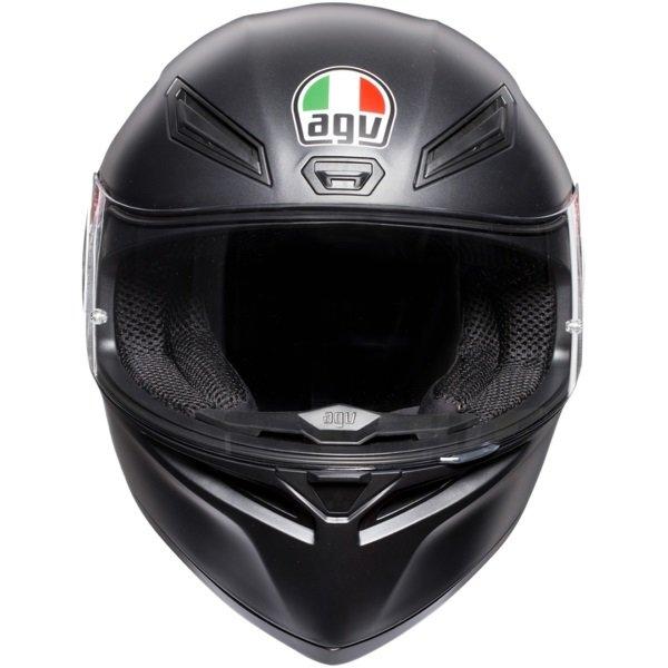 AGV K1 Matt Black Full Face Motorcycle Helmet Front