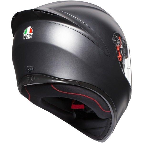 AGV K1 Matt Black Full Face Motorcycle Helmet Back Right