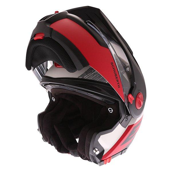 E1 Crossfire Helmet Red Adventure & Touring Motorcycle Helmets