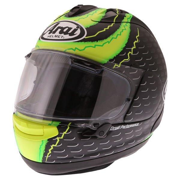 Arai RX7-V Crutchlow Yellow Full Face Motorcycle Helmet Front Left