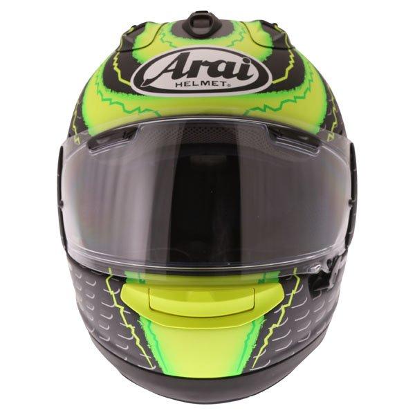 Arai RX7-V Crutchlow Yellow Full Face Motorcycle Helmet Front