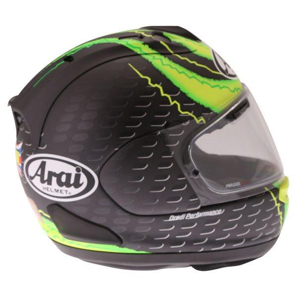 Arai RX7-V Crutchlow Yellow Full Face Motorcycle Helmet Right Side