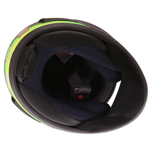 Arai RX7-V Crutchlow Yellow Full Face Motorcycle Helmet Inside
