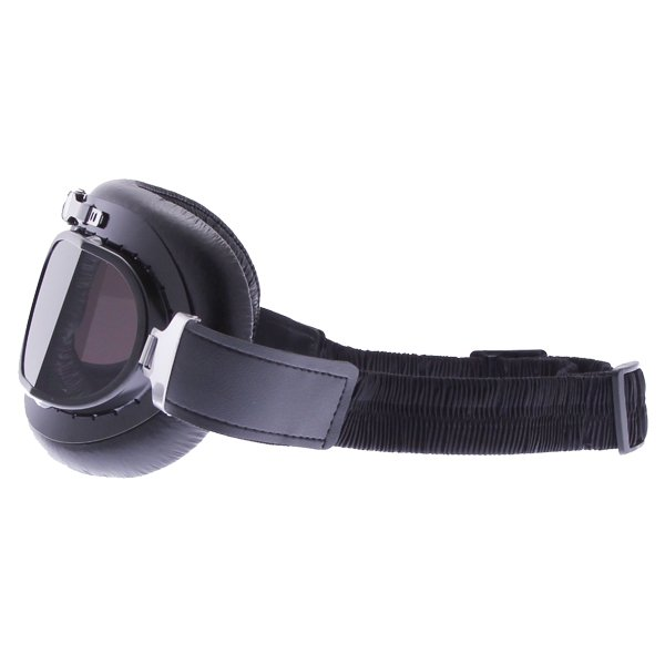 Bike It Classic Black Aviator Goggles Left Side