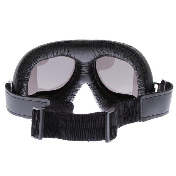 Bike It Classic Black Aviator Goggles Back