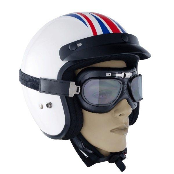 Bike It Classic Black Aviator Goggles