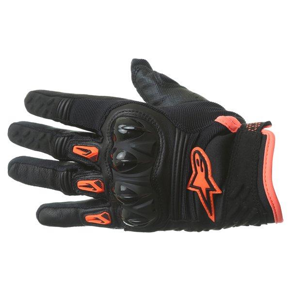 Alpinestars Megawatt Hard Knuckle Black Anthracite Fluo Orange Motorcycle Gloves Back
