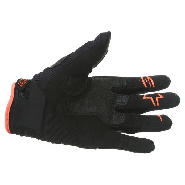 Alpinestars Megawatt Hard Knuckle Black Anthracite Fluo Orange Motorcycle Gloves Palm