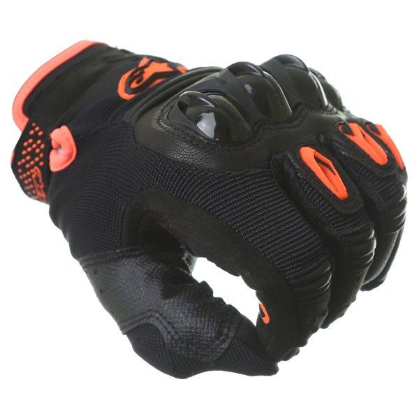 Alpinestars Megawatt Hard Knuckle Black Anthracite Fluo Orange Motorcycle Gloves Knuckle