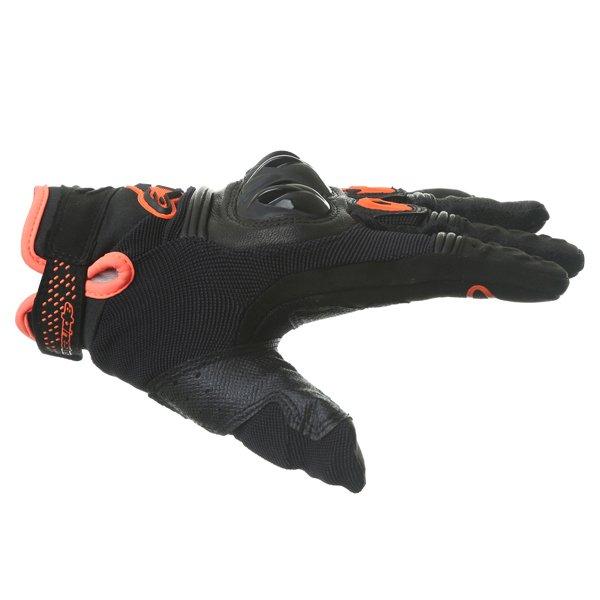 Alpinestars Megawatt Hard Knuckle Black Anthracite Fluo Orange Motorcycle Gloves Thumb side