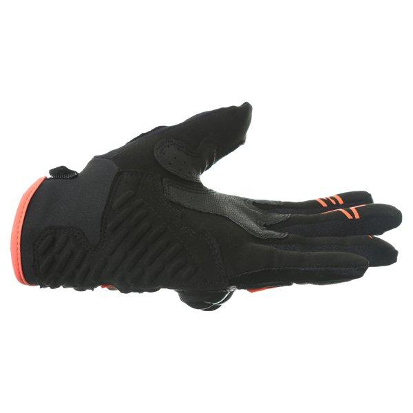 Alpinestars Megawatt Hard Knuckle Black Anthracite Fluo Orange Motorcycle Gloves Little finger side