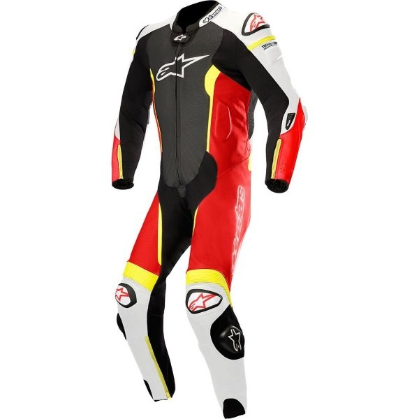 Missile 1pc Suit Tech Air Comp Black White Red Yellow Flo